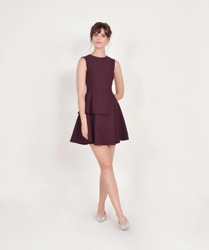 Guinevere Dress - Burgundy