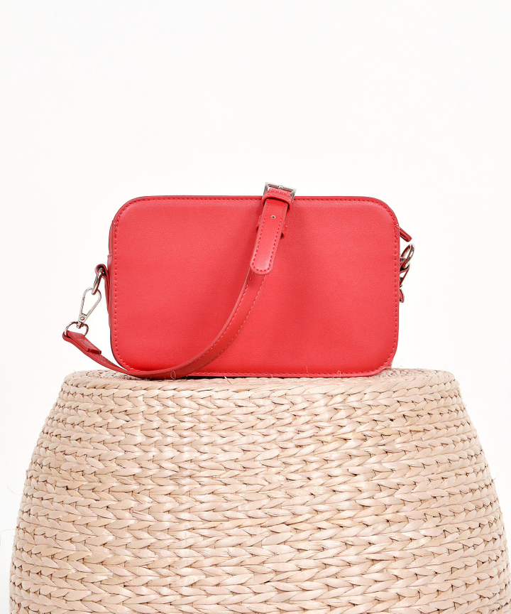Halcyon Rectangular Box Bag - Red