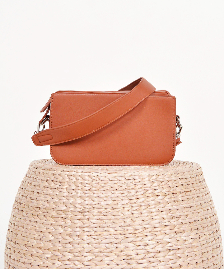 Halcyon Rectangular Box Bag - Caramel