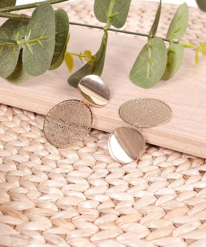 Disc Circle Earrings
