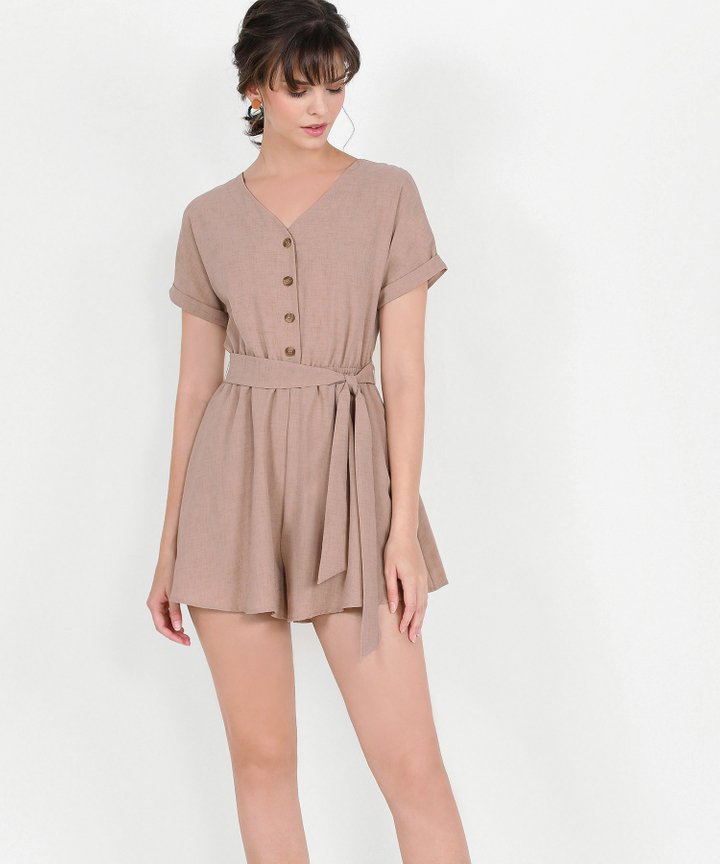 Devyn Playsuit - Sand