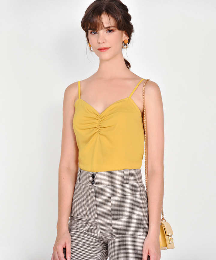 Cora Ruched Camisole - Mustard