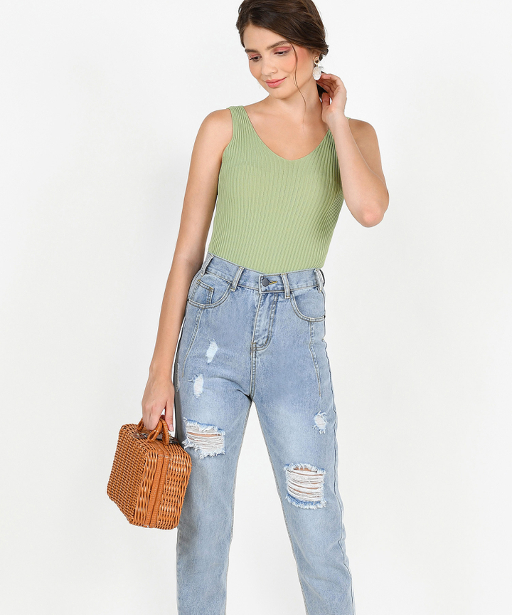 Jacques Knit Tank - Spring Green