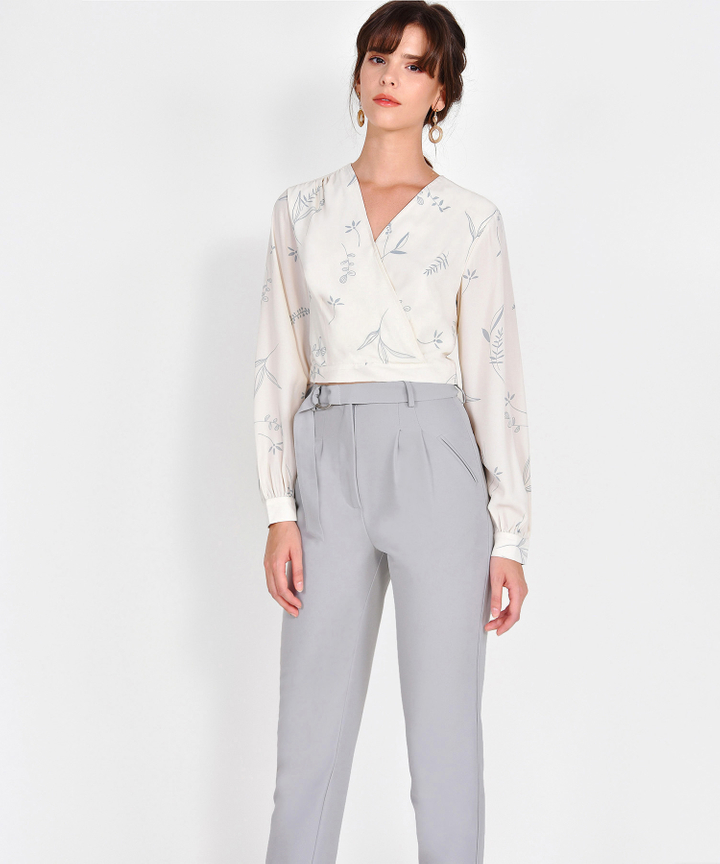 Willow Printed Blouse - Cream