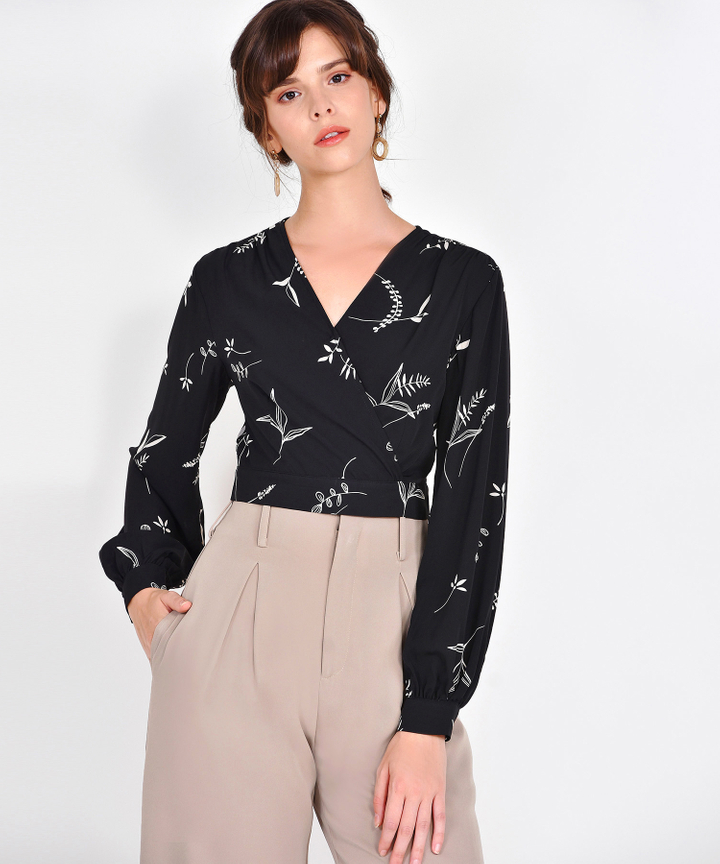 Willow Printed Blouse - Black