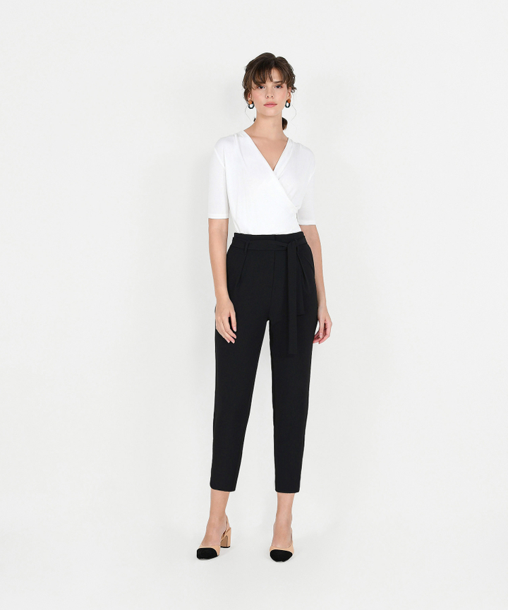 Edwina Cropped Trousers - Black