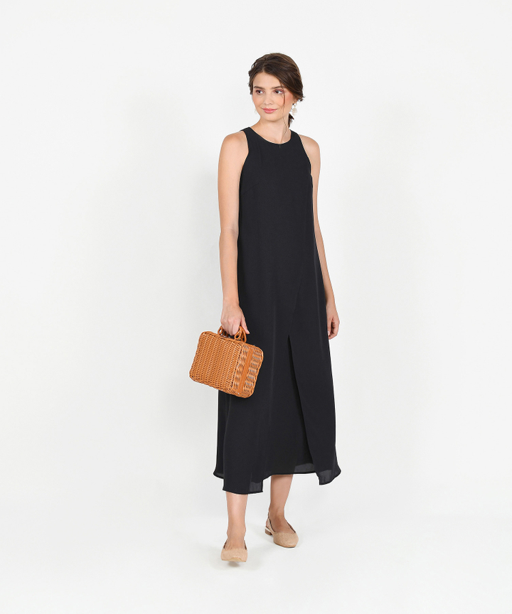 Allegro Overlay Maxi Dress - Black