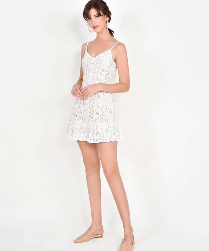 Joelle Lace Mini - White (Backorder)