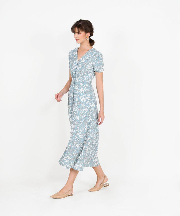 Adalia Floral Maxi - Pale Blue