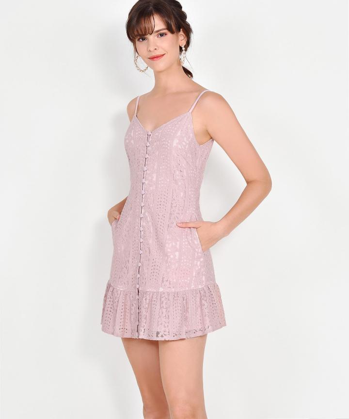 Joelle Lace Mini - Dust Pink