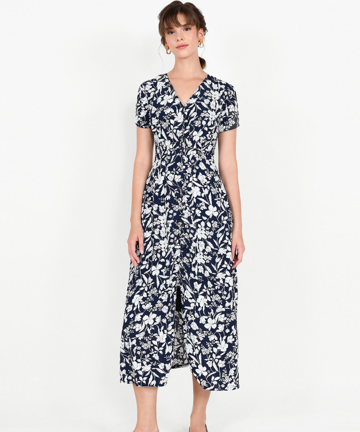 Adalia Floral Maxi - Navy