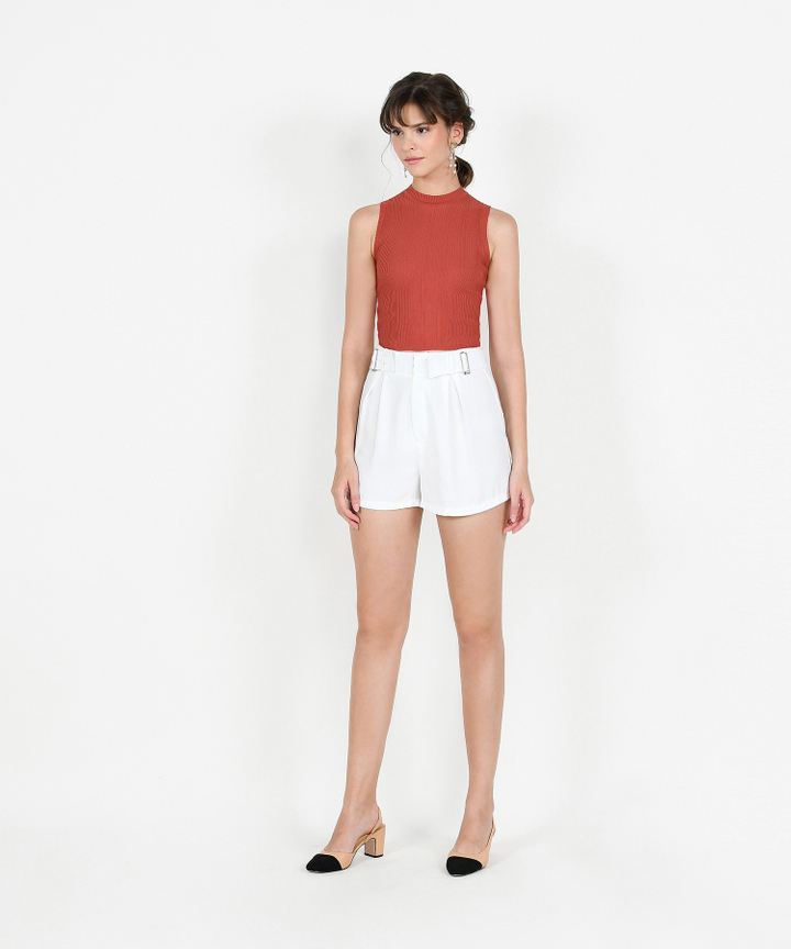 Terris Knit Tank - Vermillion
