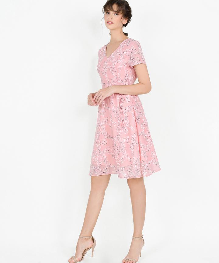 Deidra Floral Midi - Pink
