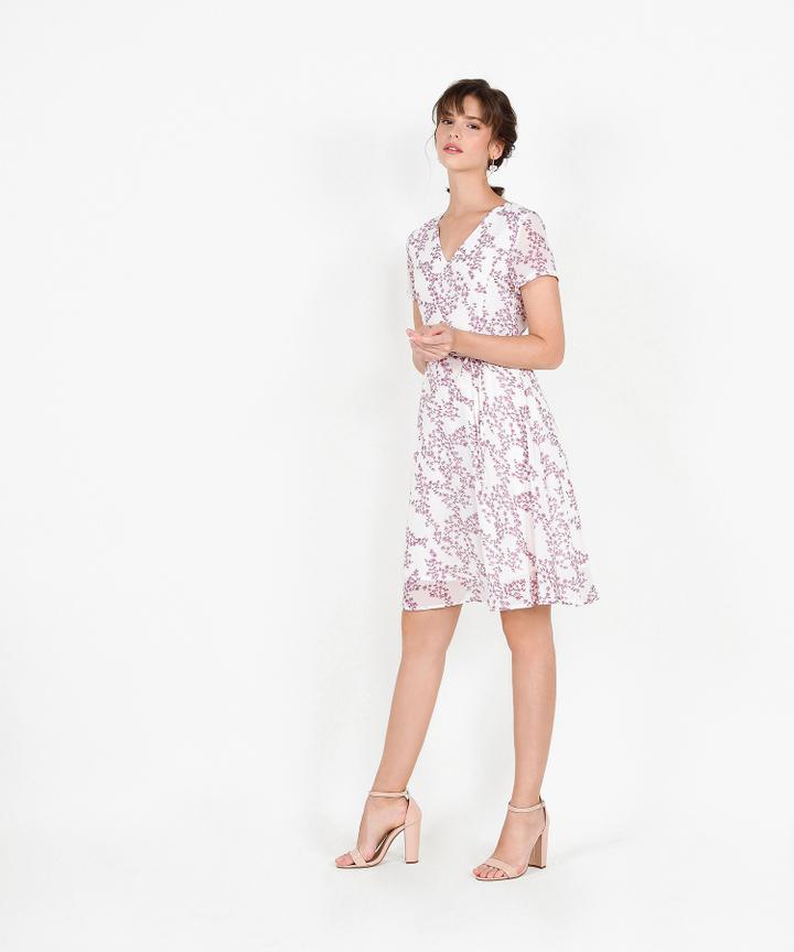 Deidra Floral Midi - White