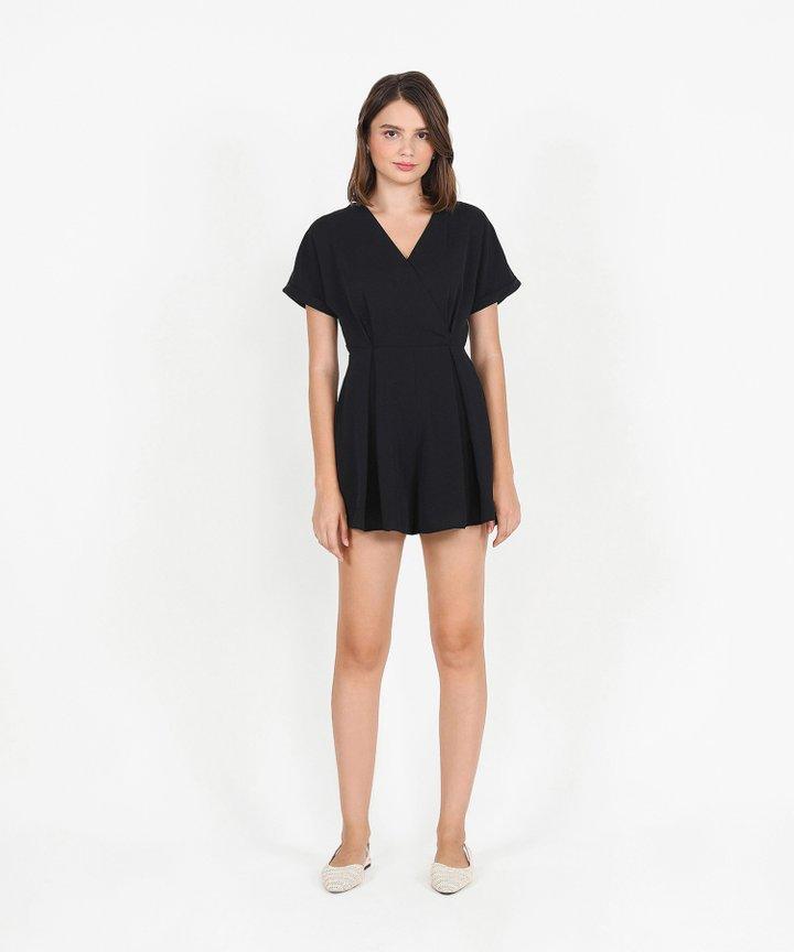 Minami Kimono Playsuit - Black