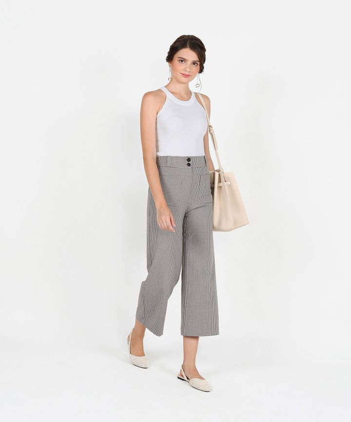 Steele Halter Knit Top - White