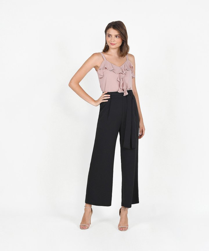 Templeton Wide-Leg Trousers - Black