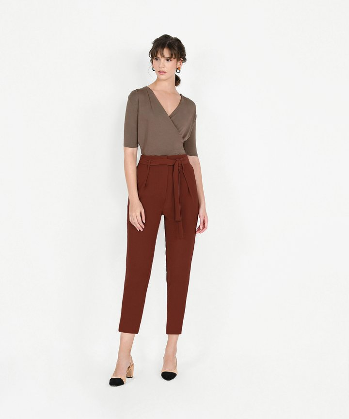 Edwina Cropped Trousers - Russet Brown