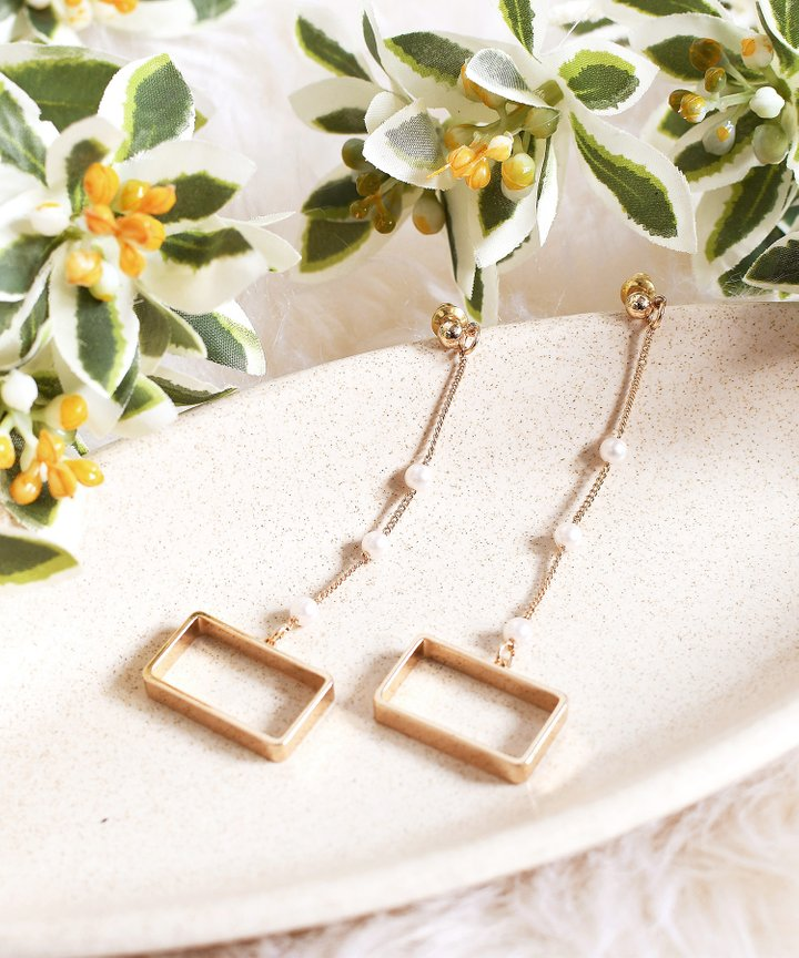 Tsakiris Rectangle Drop Earrings