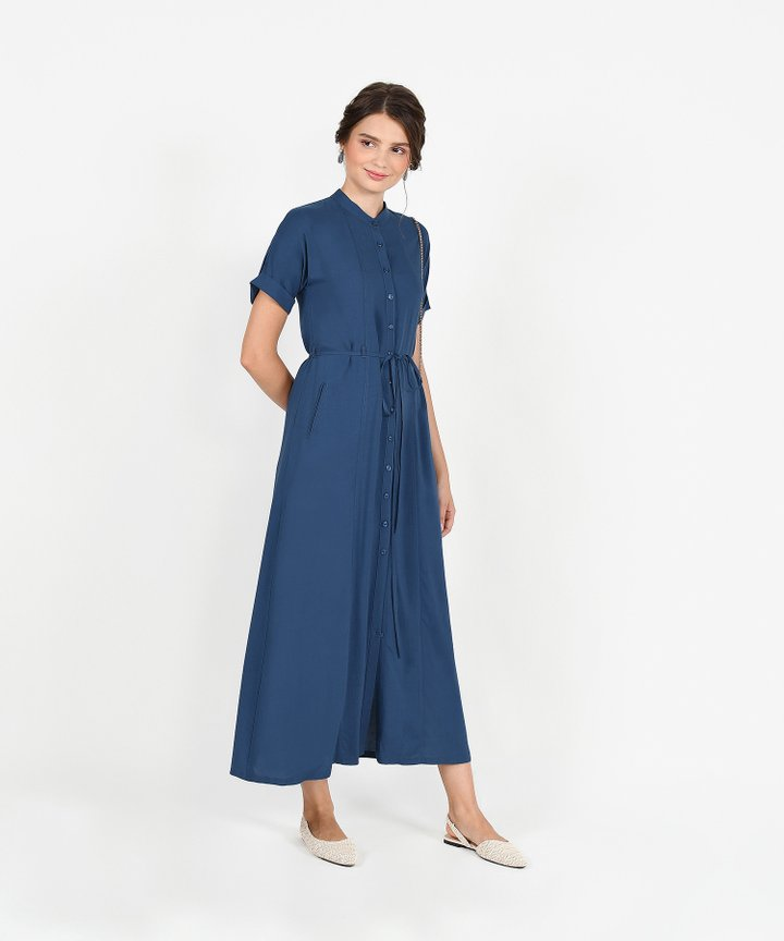 Joie Maxi Shirtdress - Lucerne Blue