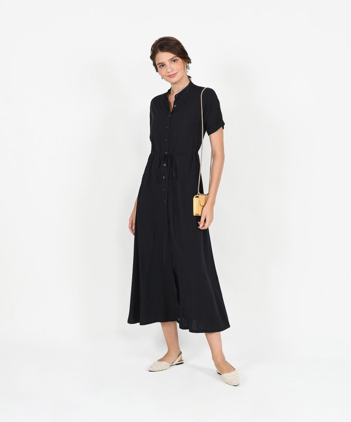 Joie Maxi Shirtdress - Black