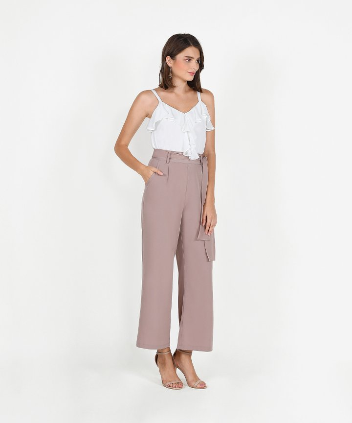 Templeton Wide-Leg Trousers - Dusk Pink