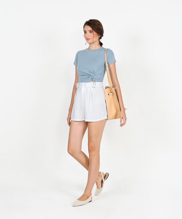 Keepsake Knot Basic Top - Periwinkle Blue