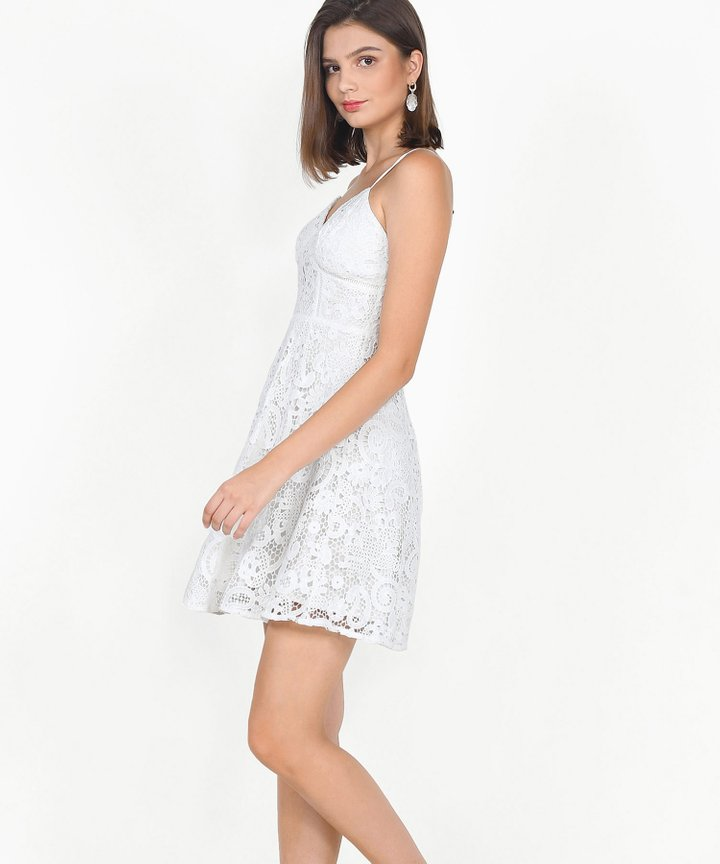 Edith Crochet Dress - White