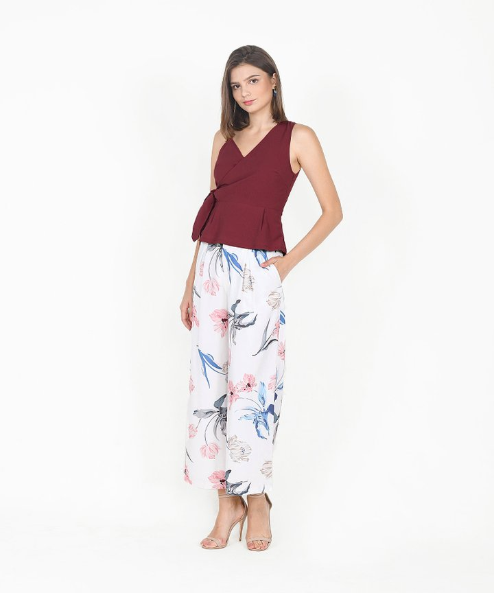 Bronwyn Floral Trousers - White