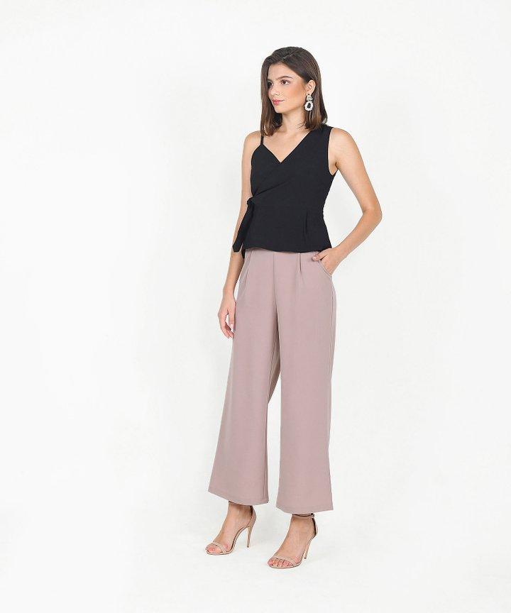 Templeton Wide-Leg Trousers - Dusk Pink