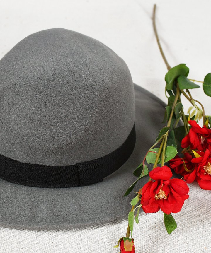 Pascal Panama Hat - Grey