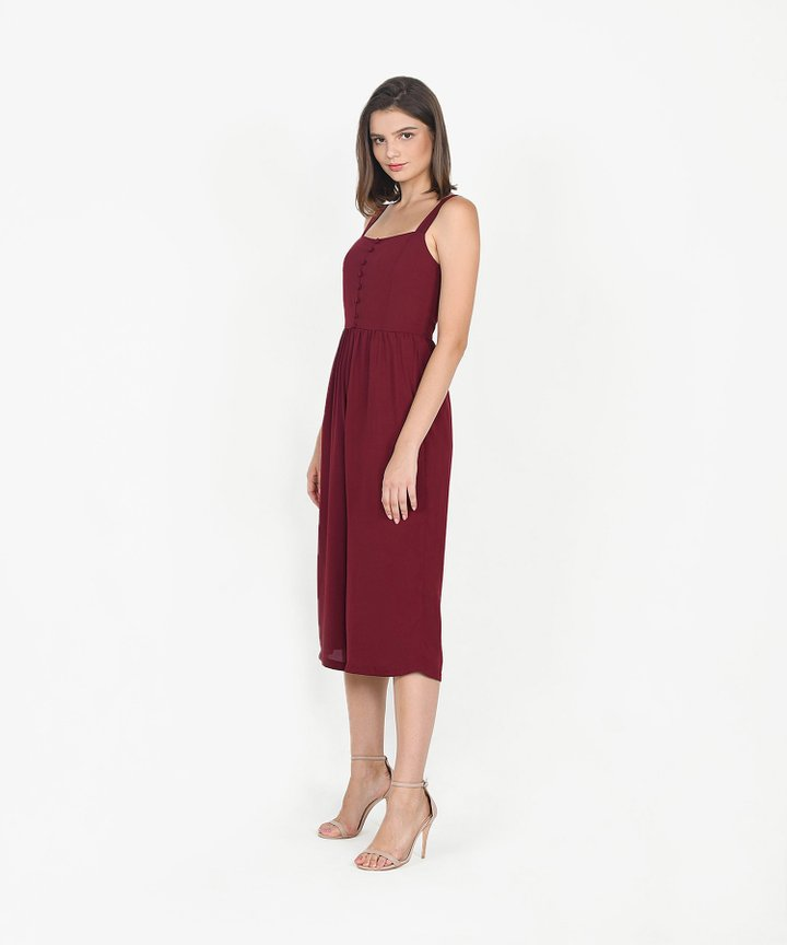 Keira Jumpsuit - Wine