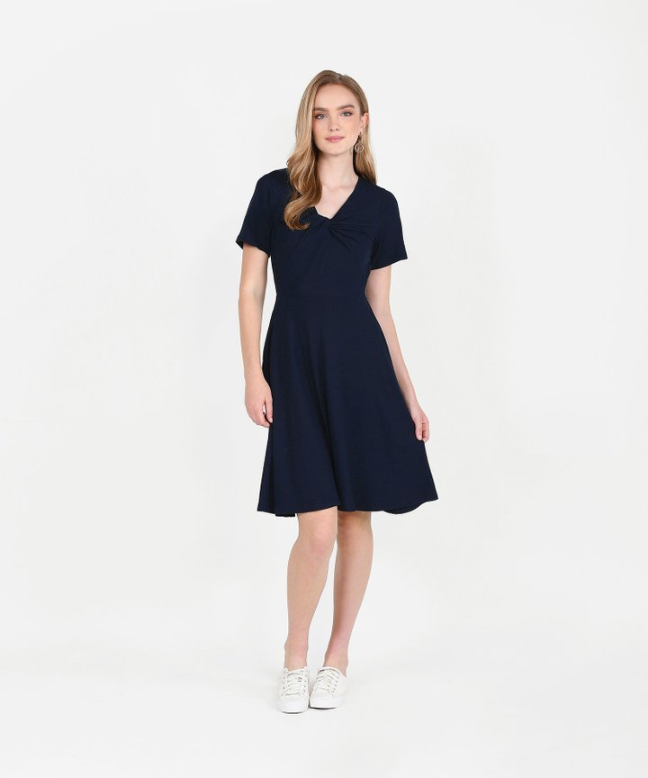 Lucia Knit Midi - Midnight Blue