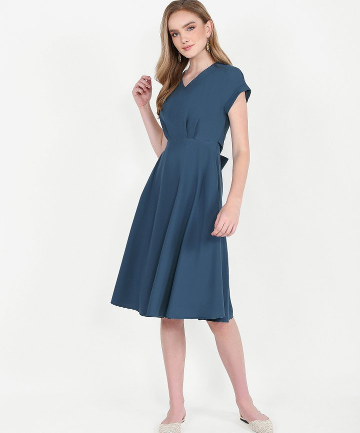 Johanna Midi Dress - Lucerne Blue