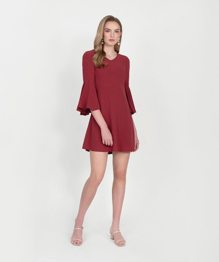 Orchid Classic Dress - Vermillion