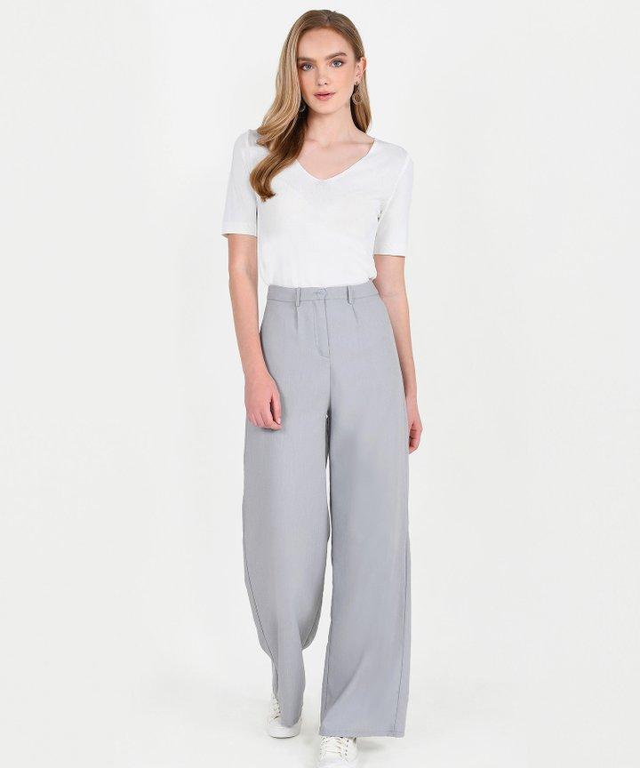 Atlas Basic Knit Top - White