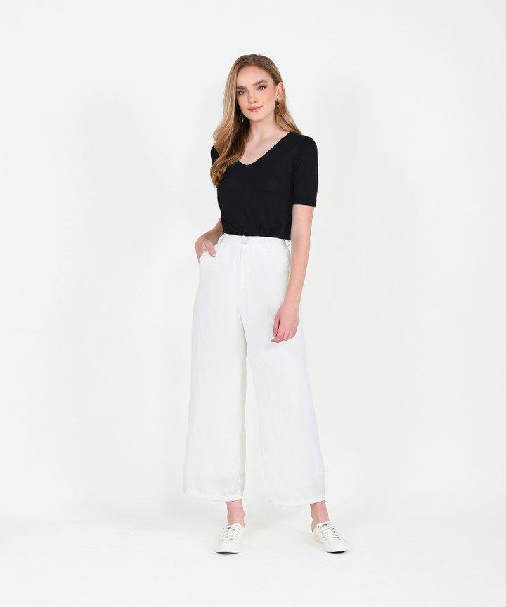 Atlas Basic Knit Top - Black