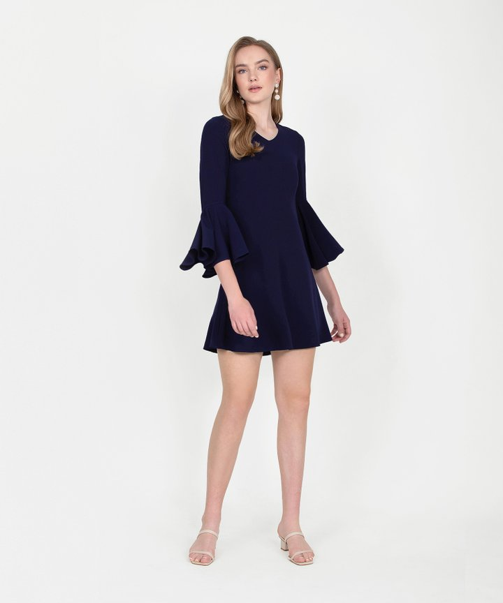 Orchid Classic Dress - Navy