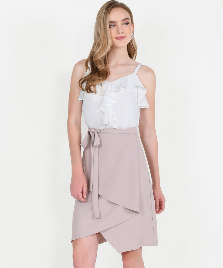Dorset Asymmetrical Tiered Skirt - Pale Lavender