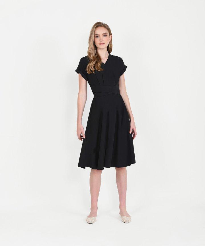 Johanna Midi Dress - Black