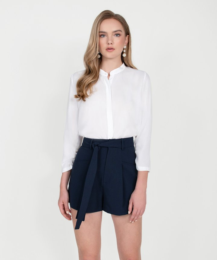 Rory Long Sleeve Blouse - White