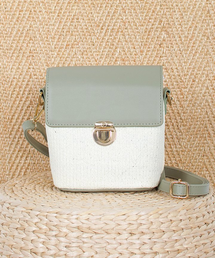 Copenhagen Colourblock Bag - Dust Sage