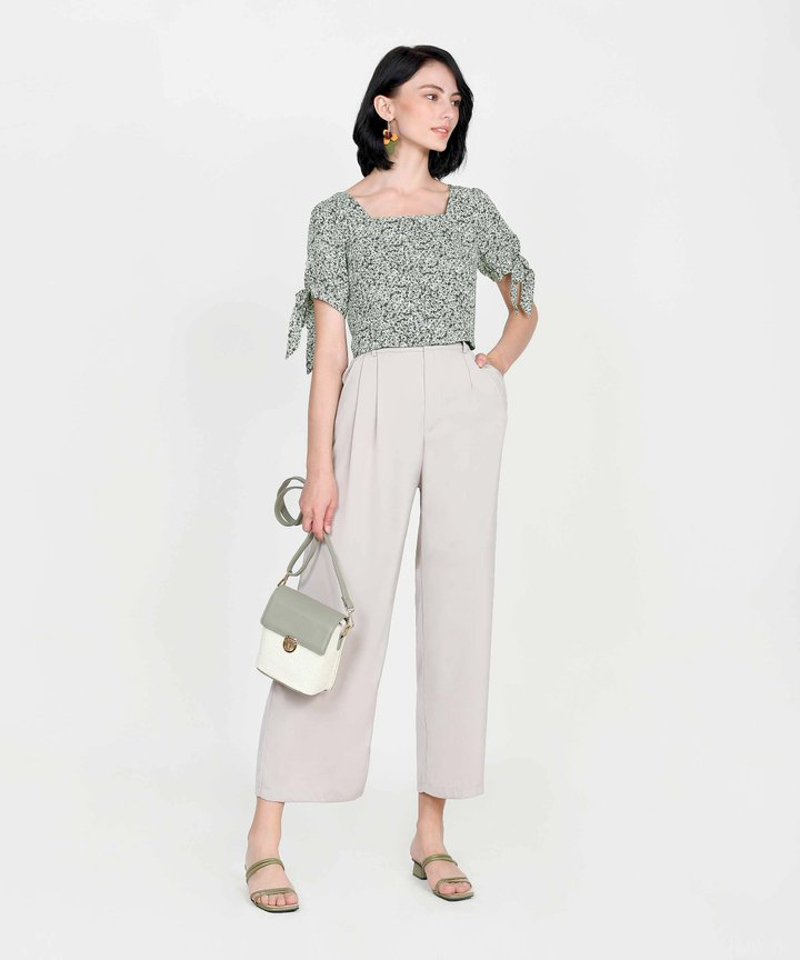 Adelaide Wide Leg Pants - Pebble Grey