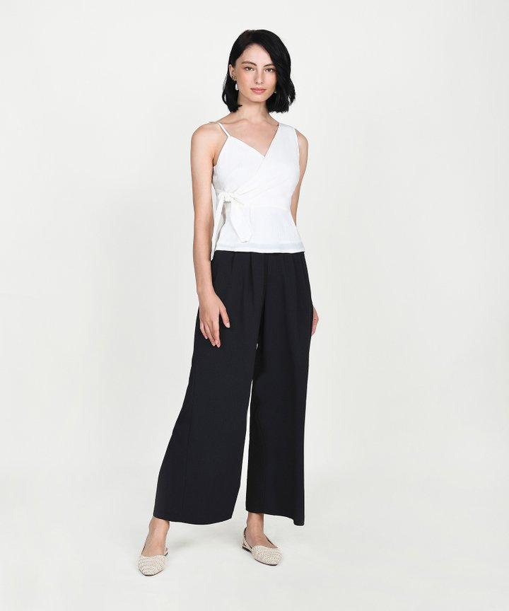 Esora Asymmetrical Overlay Top - White