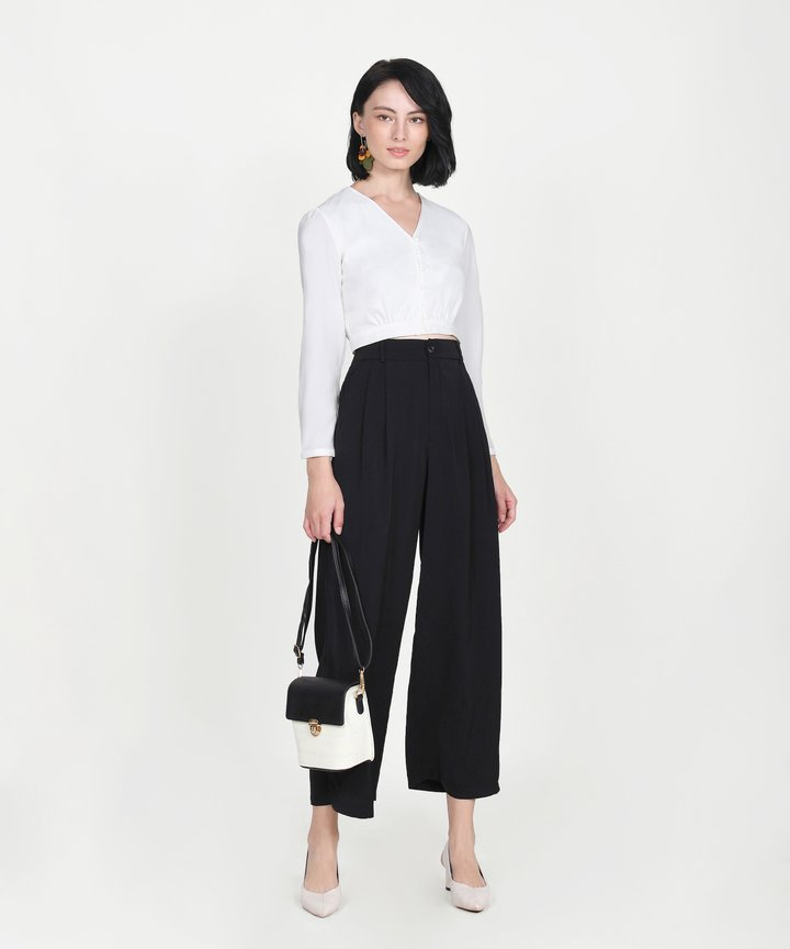 Yuri Cropped Blouse - White