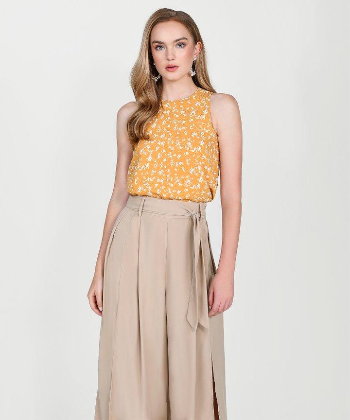 Mindi Floral Top - Marigold