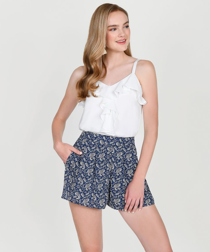 Anthea Paisley Shorts - Navy