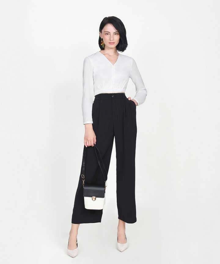 Adelaide Wide Leg Pants - Black