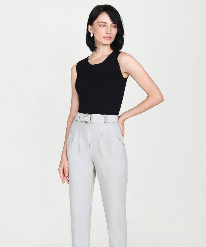 Ines Basic Knit Top - Black