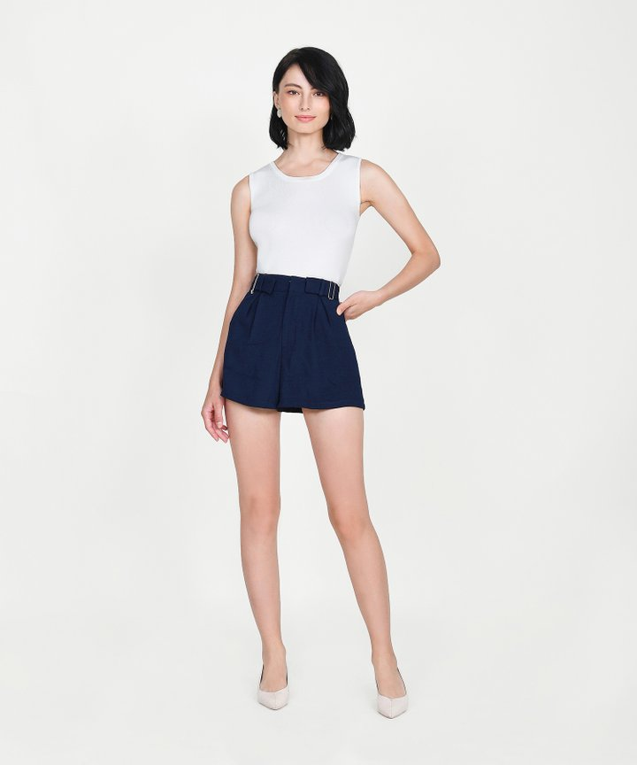 Ines Basic Knit Top - White